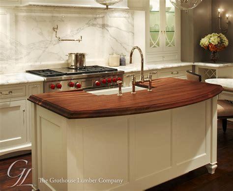 island kitchen counter walnut wood countertop kitchen island in chicago 1953