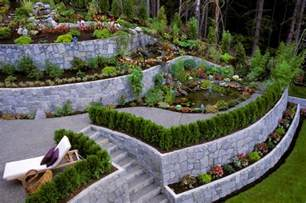 front sloping lot house plans 27 backyard retaining wall ideas and terraced gardens
