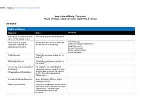 design document isd addie design document template