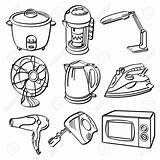 Clipart Appliances Electric Electrical Fan Drawing Sketch Appliance Different Cliparts sketch template