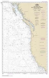 California Nautical Charts 501 North Pacific Ocean West Coast Of North America