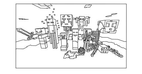 Kleurplaat Minecraft End by Kleurplaat Minecraft End Coloring Pages For Minecraft Top