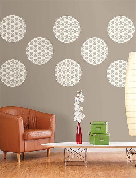 diy wall dressings polka dot designs  add sophistication