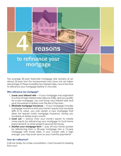 Farm 4 Reasons To Refinance Your Mortgage  First Tuesday Journal