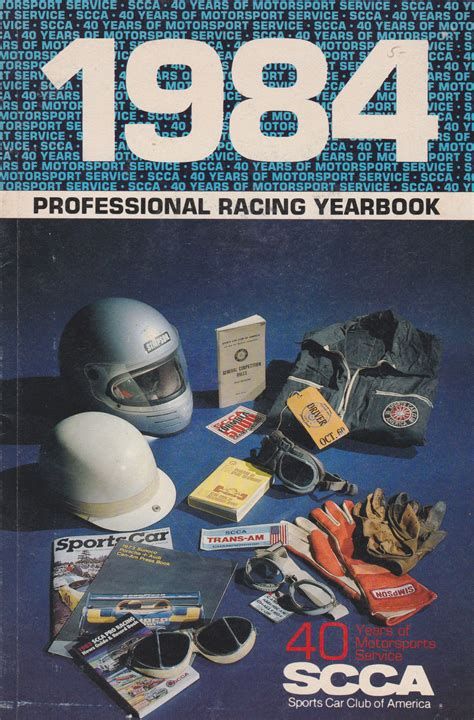 scca media guides  yearbooks  motor racing