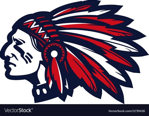 Indian Chief Image by American Indian Chief Logo Or Icon Royalty Free Vector Image