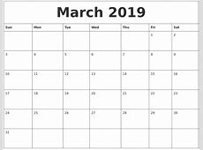 February 2019 Free Printable Monthly Calendar