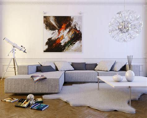 livingroom l contemporary light gray l shaped sofa interior design ideas