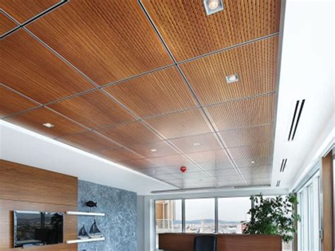 Drop Ceiling by Wood Panel Drop Ceiling Dropped Ceiling Ideas