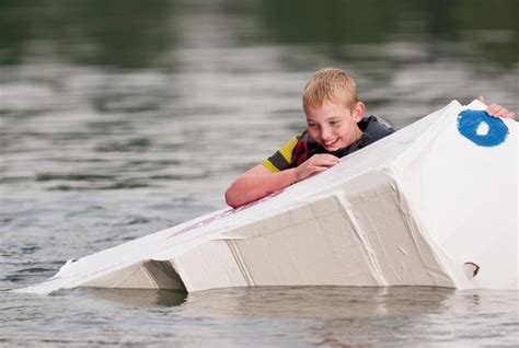 Cardboard Boat Sealant by 13 Best How To Make A Cardboard Boat Float Images On