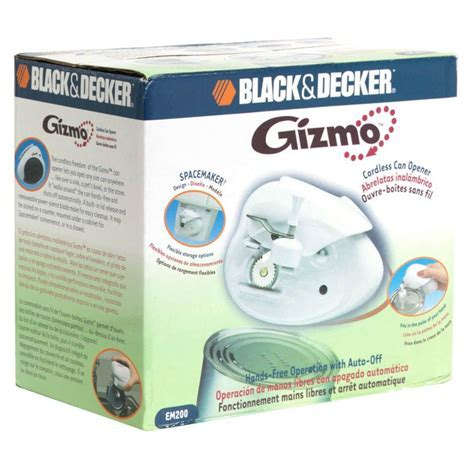 BLACK DECKER Gizmo Cordless Can Opener, Spacemaker, 1 can