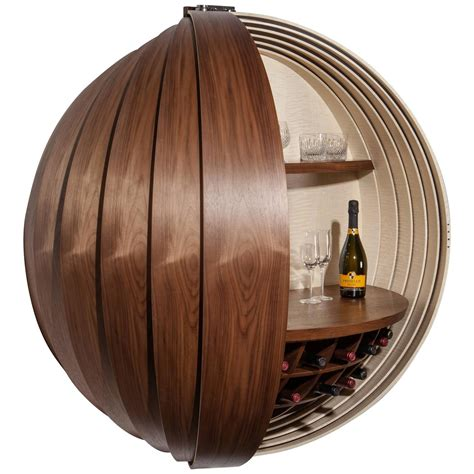 Wall Mounted Bar Cabinets For Home by Contemporary Walnut Drinks Cabinet Or Bar Wall