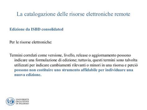 La Catalogazione Delle Risorse Elettroniche Remote