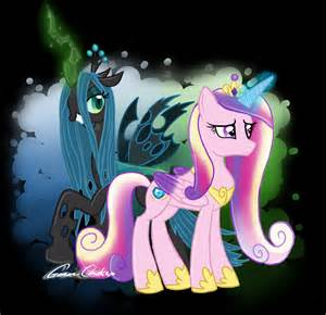 MLP Princess Cadence and Queen Chrysalis