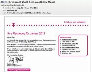 Rechnung Einsehen Telekom : vorsicht malware spam welle mit gef lschten telekom rechnungen ~ Themetempest.com Abrechnung