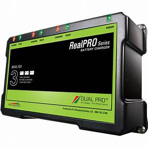 Dual Pro Realpro 18 Amp Waterproof Battery Charger