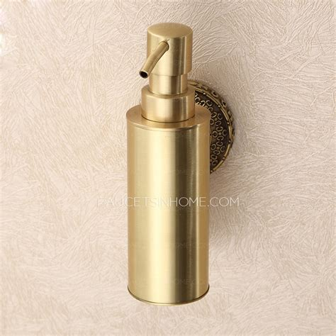 2 in 1 dispenser soap vintage polished brass wall mount soap dispensers