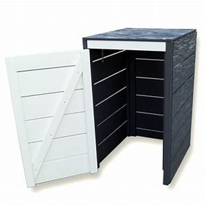 Mülltonnenbox Holz Anthrazit : m bel m lltonnenbox aus gehacktem holz holz im garten ~ Whattoseeinmadrid.com Haus und Dekorationen