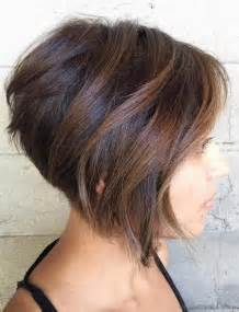 Short Layered Stacked Bob Hairstyles