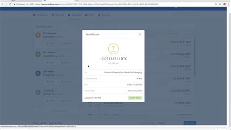 Then, add the amount of bitcoin you want to transfer, continue, and confirm the transaction. NEWBIES: How to get your Bitcoin & Ethereum transaction ID in your coinbase wallet - eBitcoinics ...