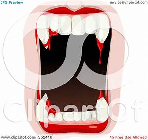 Tsunami Designs Clipart Of A Mouth With Blood From The