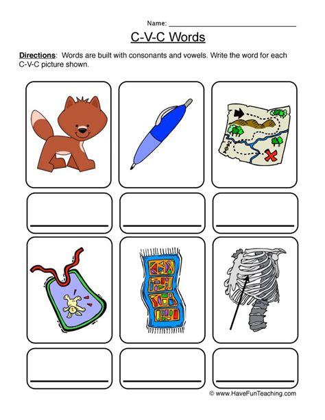 cvc worksheet   cvc worksheets phase