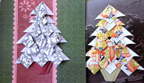 paperfacets tea bag folding christmas tree for greeting cards