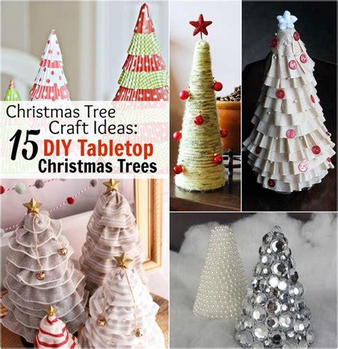 christmas tree craft ideas 15 diy tabletop christmas
