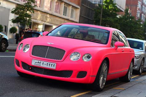 Bentley Spotting Matte Pink Bentley Continental Flying