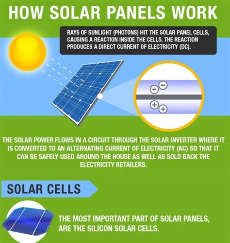 How Solar Panels Produce Electricity Infographic