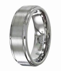 men39s wedding band in cobalt chrome polished step edges 8mm With cobalt chrome men s wedding rings