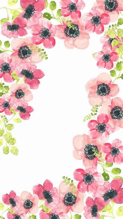 Floral Pretty Backgrounds Tablet Wallpapers Watercolor Desktop