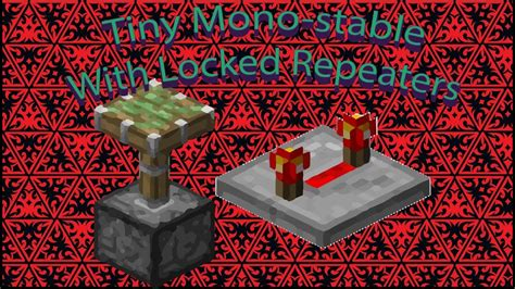 The Minecraft Tinker Box Easy Monostable Circuit With