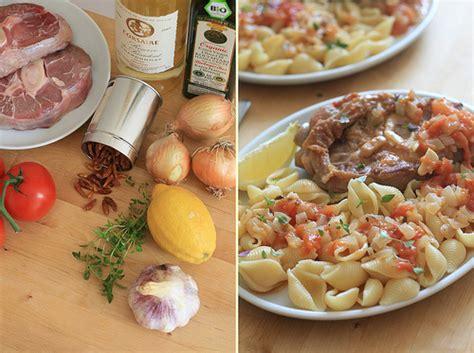 recette de cuisine italienne traditionnelle cuisine italienne osso bucco à la tomate au thym et aux