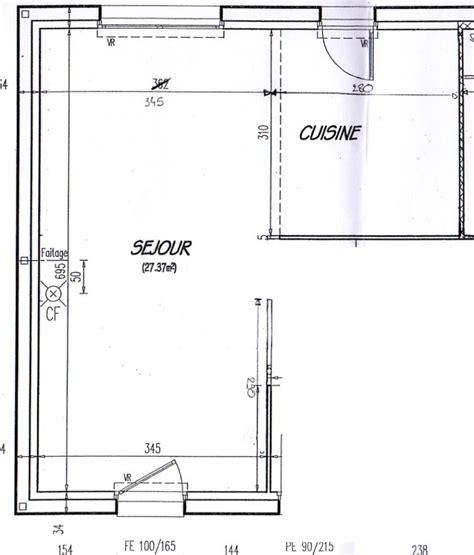 plan salon salle a manger am 233 nagement salon salle 224 manger