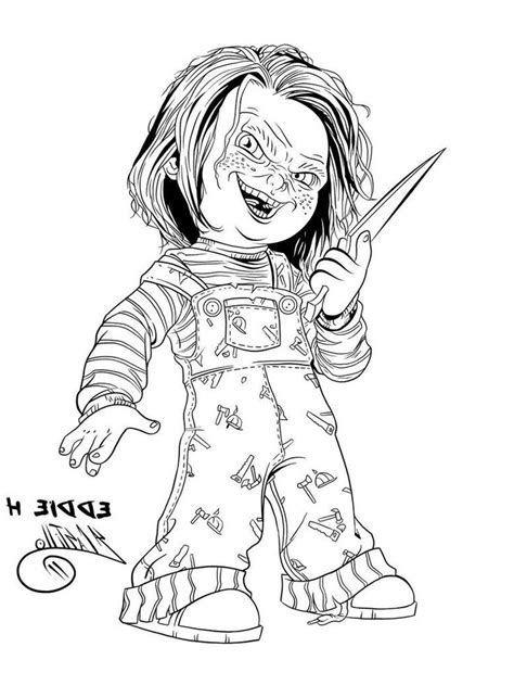 Bride Of Chucky Tiffany Coloring Pages Coloring Pages