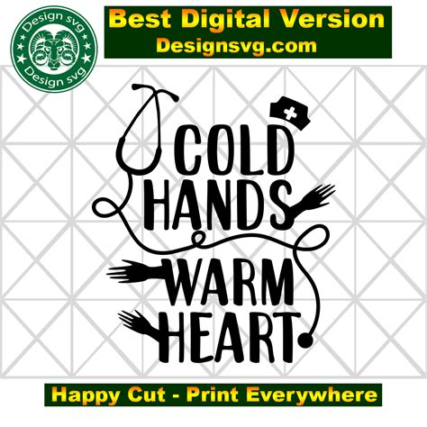 By litkedesigns $ 2.00 $ 4.00. Cold hands warm heart SVG Files For Silhouette, Files For ...