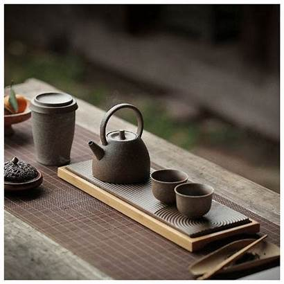 Tea Chinese Tray Serving Canister Ceramic Japanese