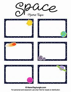 printable space name tags With free name tag templates for kids