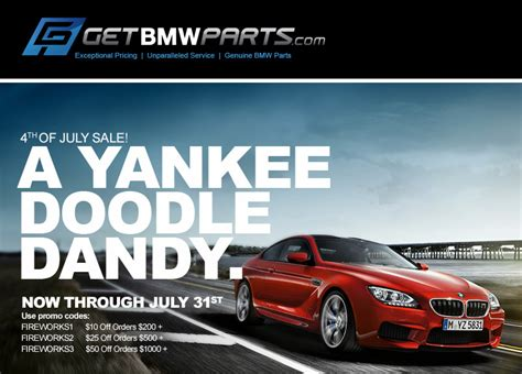 Bmw Promo Code by Getbmwparts 4th Of July 2014 Sale Promo Codes Inside