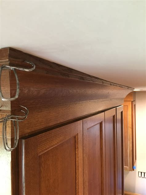 how to fix gap between ceiling and kitchen crown molding how to install crown molding on cabinets that do not go