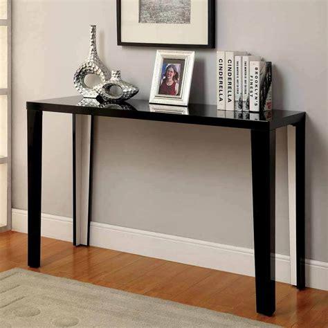 lorri modern occasional simple style console sofa table high gloss black finish ebay