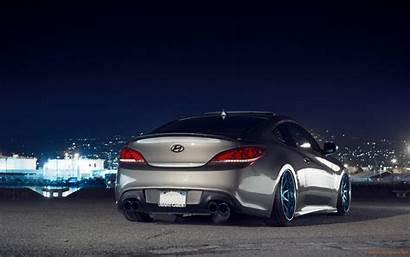 Genesis Hyundai Wallpapers Coupe Night Tuning Stance