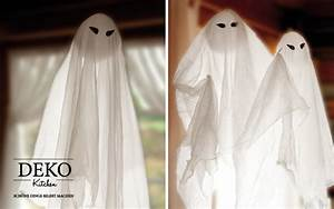 Halloween Deko Für Draussen : diy schwebende halloween gespenster als party deko deko kitchen ~ Frokenaadalensverden.com Haus und Dekorationen