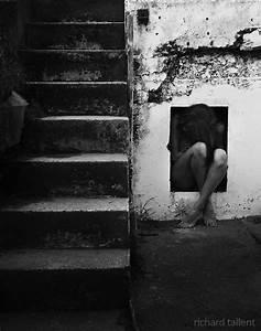 art, sad, photography, sad girl, black and white | Sadness ...