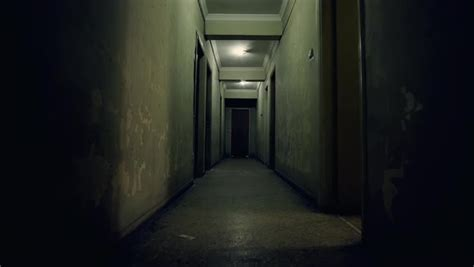 Corridor & Hallway : Pov Walk On The Corridor Of An Old Apartment Building,long