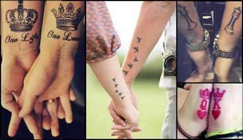 matching couple tattoos ideas gallery  meanings   trends
