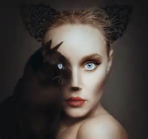 Surreal Self Portraits Replace One Eye With An Animal's Eye
