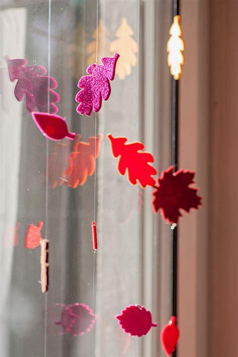 Herbstdeko Fenster Papier by Gefilzt Colorspell