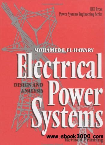 electrical power systems design and analysis free ebooks